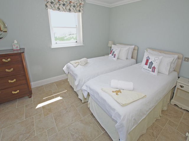 Bedroom made up as a 2 singles but can also be a double bed