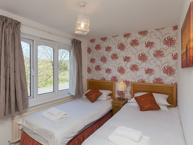 One of two twin bedded rooms