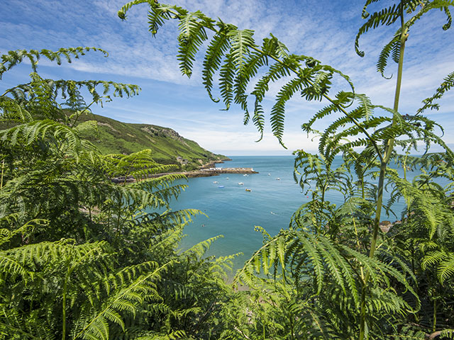 View over Bouley Bay from Rozel Cliff Path