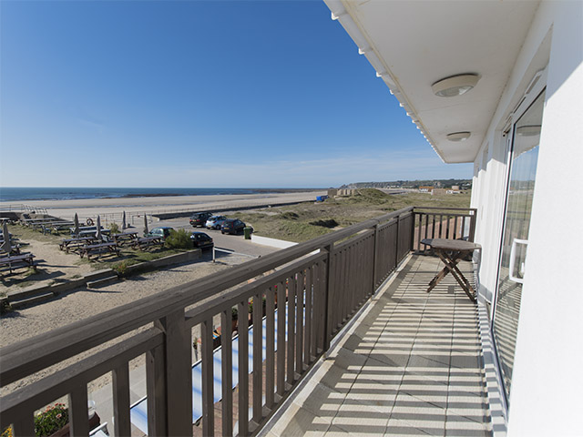View looking north from balcony overlooking beach
