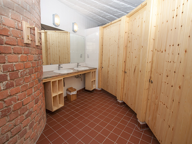 Shower rooms and toilets on the ground floor