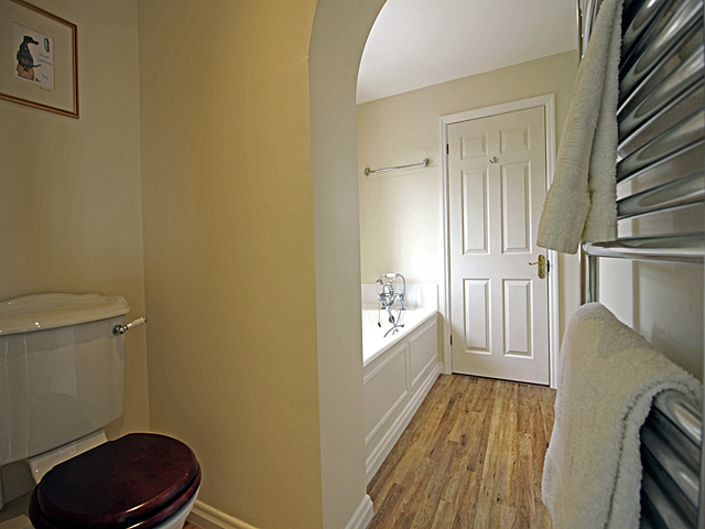 Spacious bathroom room with bath, separate shower, basin and WC