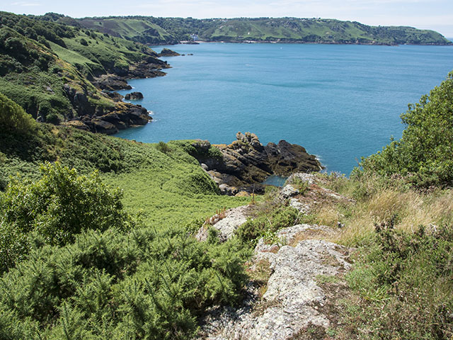 Bouley Bay from the north coast cliff path