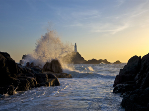 Corbiere Lighthouse on the south west corner of Jersey